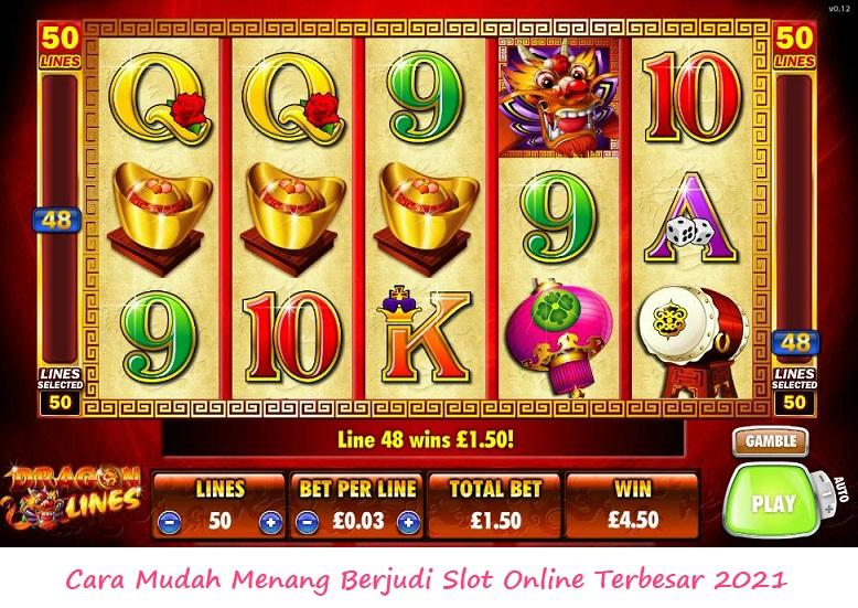 Cara Mudah Menang Berjudi Slot Online Terbesar 2021